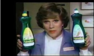 You're soaking in it! Source - http://upload.wikimedia.org/wikipedia/en/5/52/Madge_palmolive.jpg